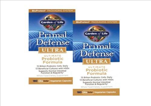 Garden Of Life Primal Defense Ultra, Ultra 180 Caps (Pack Of 2)