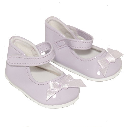 Lavender Ankle Strap Shoe with Bow for 18 Inch Dolls Like American Girl