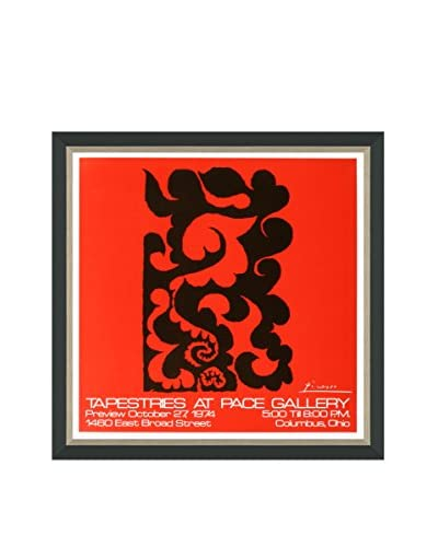 """Pablo Picasso """"Tapestries At Pace"""" (Printed In 1974) Framed Poster"""