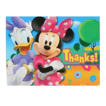 Minnie Mouse Thank You Notes 8ct
