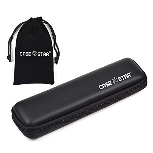 Case Star ® Black Color Hard Shell Protective EVA Carrying Case/Bag/Pouch/Holder for Pencils, Graphics Tablet Stylus, Digital Touch Pen, Ballpoint P