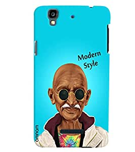 Omnam Mahatma Gandhi Printed in modern look with sunglass for Micromax Yureka