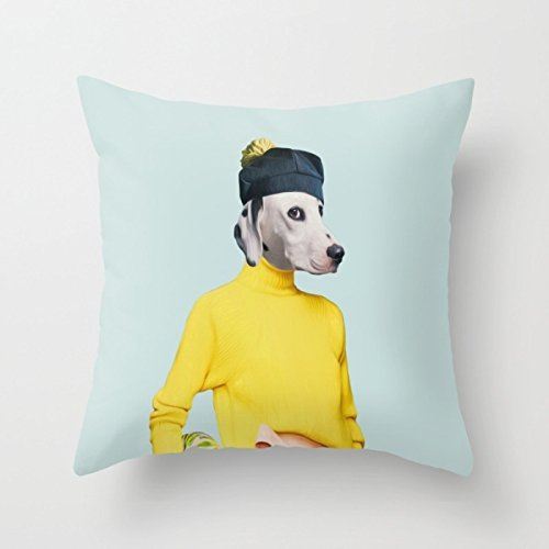 Dogs Cushion Cases 18 X 18 Inch / 45 By 45 Cm For Bedroom, Kitchen, Memorial Day, Hotel, Gift For Boy Friend, Halloween, Study Room, Christmas, All Fool's Day, Car, With 2 Sides Print