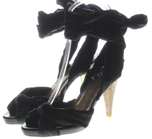 couture discount fashion binde sandalen peep toes in kork. Black Bedroom Furniture Sets. Home Design Ideas