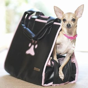 Pet Fashion Bag (Black and Pink) NEW
