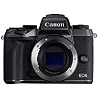 Canon EOS M5 24.2MP Mirrorless Digital Camera Body (Black) - Manufacturer Refurbished + Body Jacket (EH29-CJ Black) + Neck Strap (EM-E2 Black) + Body Jacket (EH29-CJ Brown) + Neck Strap (EM-E2 Brown) + Mount Adapter EF-EOS M