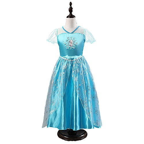 Kids Halloween Costome Girls Cosplay Elsa Frozen Princess Anna Party Ball Dress