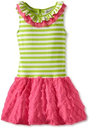 (2 折)Rare Editions Girls 2-6X Eyelash Dress 女童连衣裙$11.02,