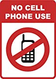 No Cell Phone Use Sign - Cellular Phones Prohibited Signs