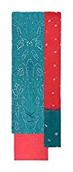 Bandhej Mart Women's Cotton Salwar Suit Material (Rama Green and Pink)