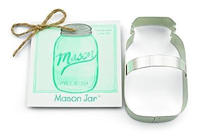 Ann Clark Mason Jar Cookie Cutter - 4.5 Inches - Tin Plated Steel