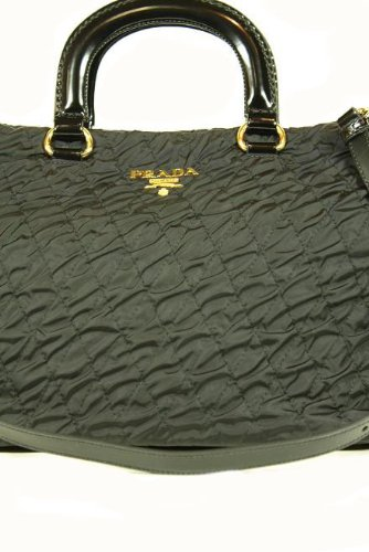 Prada Handbags Black Tessuto Impuntu B2043D