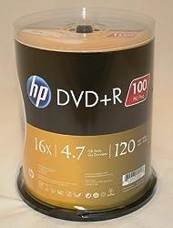 Hewlett Packard 16X 4.7GB DVD+R 100pk Spindle