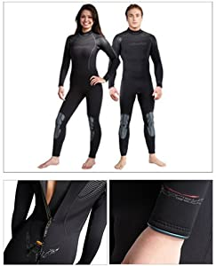 Akona Mens 7mm Quantum Stretch Cold Water Wetsuit (Black, 4X-Large)