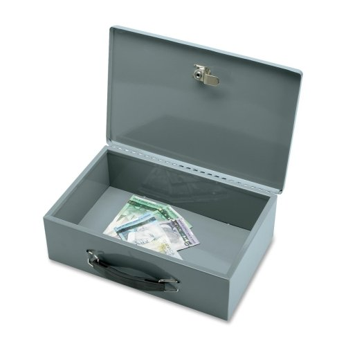 sparco-all-steel-insulated-cash-box-steel-gray-38quot-height-x-128quot-width-x-83quot-depth-by-sparc