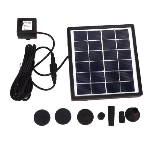 BESTOPE Solar Powered Fountain Pool Garden Watering Kits Black, Suitable for Bird Bath, Fish Tank, Small Pond, Garden Decoration, Water Circulation for Oxygen