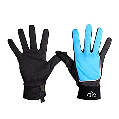 Baiyu 1 Pair Men Women Stretchable Gloves Five Finger Padded Palm Massage Glove Anti skid Cycling Equipment For Outdoor Bicycle Bike Gym Weight Lifting Training Exercise Driving Running Jogging