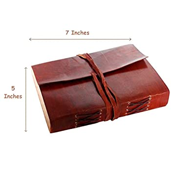 Red Vintage Leather Journal Notebook Diary gifts for men women him her sale