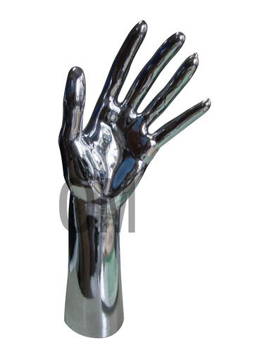 Brand New Luxury Free Standing Realistic Female Mannequin Right Hand Jewelry Display Chrome (D3)