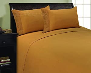 Elegance Linen ® 1800 Thread Count PLEATED DESIGN Egyptian Quality Luxurious Silky Soft WRINKLE RESISTANT 4 pc Sheet set, Deep Pocket Up to 16