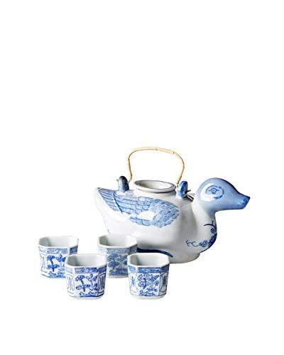 Dynasty Gallery White Duck Tea Set