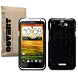 HTC ONE X SCHWARZ CROC HARDSKIN HLLE TASCHE CASE SCHUTZHLLE, COVERT RETAIL VERPACKUNGvon &#34;COVERT&#34;