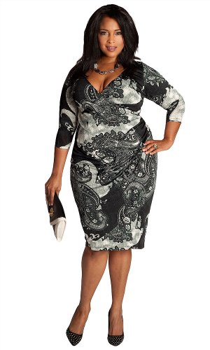 41qTbqWBDbL ^ IGIGI by Yuliya Raquel Plus Size Skye Dress 14/16 Discount !!