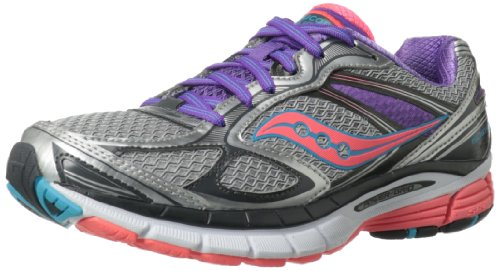 Saucony Women'S Guide 7 Running Shoe,Silver/Coral/Purple,12 M Us