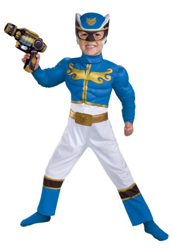 Disguise Power Rangers Megaforce Blue Ranger Muscle Costume