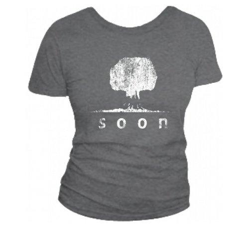 Soon (Atom Bomb Mushroom Cloud T-Shirt) Baby Fit T-Shirt Deep Heather X Large