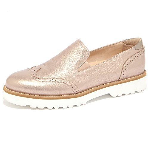 1507Q mocassino HOGAN ROUTE PANTOFOLA bronzo scarpa donna loafer woman [36]