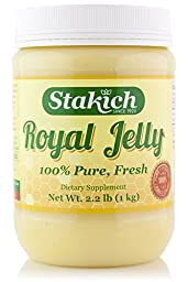 Stakich FRESH ROYAL JELLY 1 KG (2.2-LB) - 100% Pure, All Natural, Top Quality -