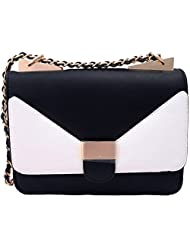 Super Drool Black And White Sling Bag