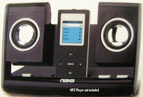 Naxa Nas-3002Bk Portable Foldable Speaker System, Black