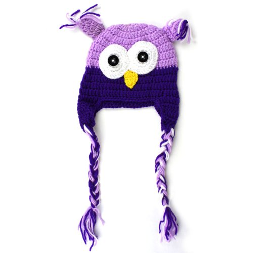 Change Newborn Baby Infant Toddler Knit Crochet Photo Prop Costume Owl Hat (Purple)