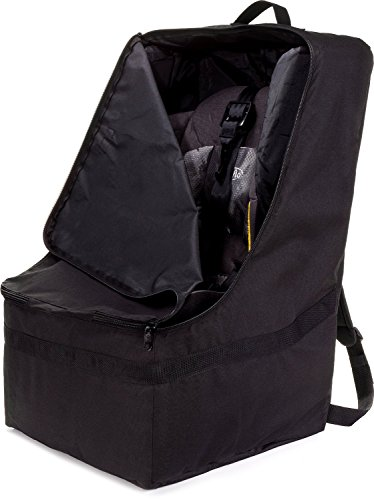 ZOHZO Car Seat Travel Bag - Adjustable, Padded Backpack for Car Seats - Car Seat Travel Tote - Save Money, Make Traveling Easier - Compatible with Most Name Brand Car Seats (Black) (Graco Car Seat Handle Cover compare prices)