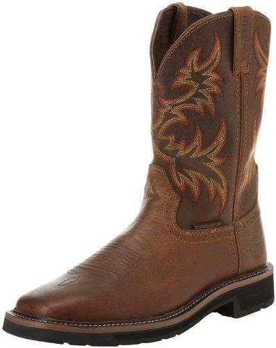 Justin Original Work Boots Men S Stampede Steel Toe Work
