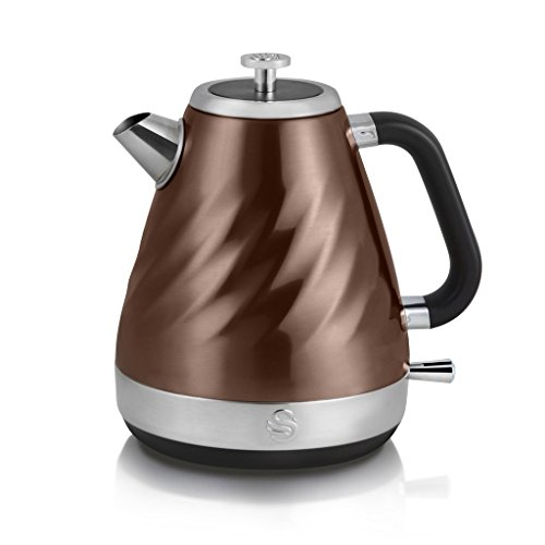 Swan Products Electric Twist Jug Kettle, 1.6 Litre, 2200 W, Copper