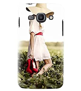 Printvisa Girl Walking On A Field Back Case Cover for Samsung Galaxy Ace 3::Samsung Galaxy Ace 3 S7272
