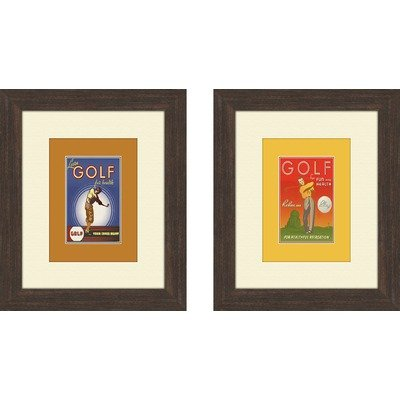 Vintage Golf Framed Art (Set of 2)