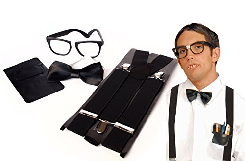 [Unisex Instant Nerd Costume & Accessory Kit by Express Novelties Online] (1950s Geek Costume)