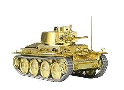 1/35 ガールズ&パンツァー 38 (t) 戦車 カメさんチームver. ゴールドメッキエディション