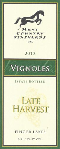 2012 Hunt Country Late Harvest Vignoles Finger Lakes Estate Bottled 375Ml
