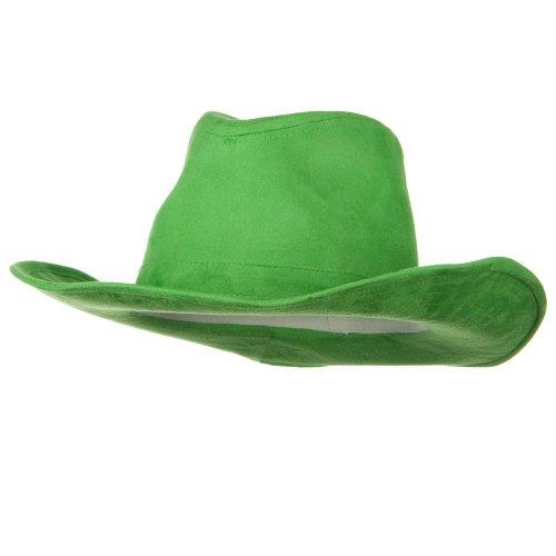 Suede Cowboy Hat - Lime