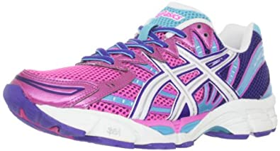 ASICS Women's Gel-Phoenix 4 Running Shoe,Neon Pink/White/Electric Blue,12 M US
