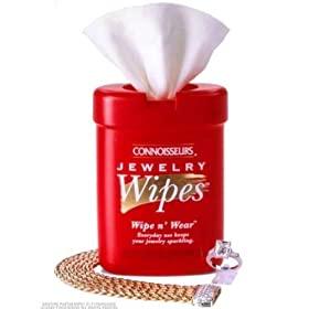 Connoisseurs Jewelry Wipes Dry Disposable Wipes 25 ea