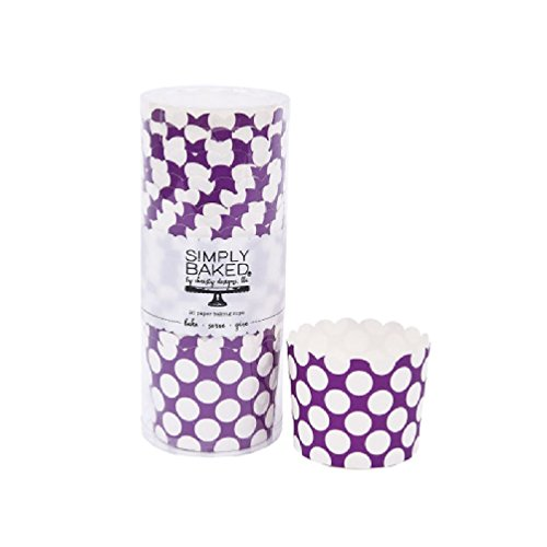 Orchid Medium Dot Large Paper Baking Cup Pack of 20