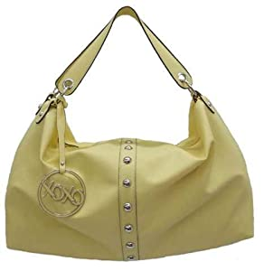 XOXO Hobo Style Studded Purse Hot Vinyl Handbag in Butter