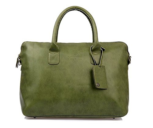 Green Totes Messanger Bag Pu Leather Shoulder Bags Women W40 H30 T14Cm