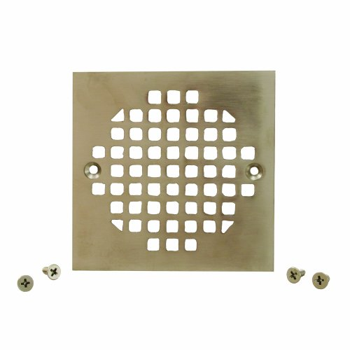 Plumbest C60-83BN Square Cast Brass Strainer, Brushed Nickel